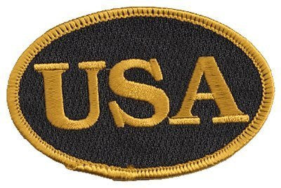 "us topo - The Oval USA Flag, PATCH, by: ""Flag-It"" The Most Trusted Brand, Superior Quality Iron-On / Saw-On Embroidered Patch - Each patch is carded & packaged individually in a professional retail package - 3.5"" x 2.25"" Inches - Made in the USA - Wide World Maps & MORE! - Automotive Parts and Accessories - ""Flag-It"" Brand - The Finest Embroidered Patches - Wide World Maps & MORE!"