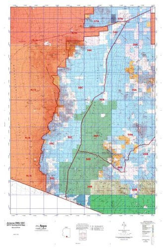 us topo - Arizona GMU 36C Hunt Area / Game Management Units (GMU) Map - Wide World Maps & MORE! - Book - Wide World Maps & MORE! - Wide World Maps & MORE!