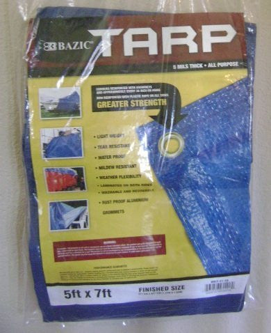 ALL PURPOSE TARP 5X7 (FINISHED SIZE 4FT 8IN X 6FT 6 IN)