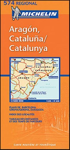 Michelin Road Map No. 574 Aragon - Cataluna (Spain) - Wide World Maps & MORE! - Book - Wide World Maps & MORE! - Wide World Maps & MORE!