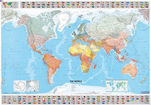 Michelin Map The World  12701  (p, Rolled) (Maps/Wall (Michelin))