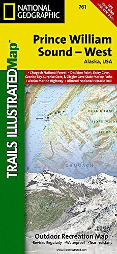 Prince William Sound West (National Geographic Trails Illustrated Map)