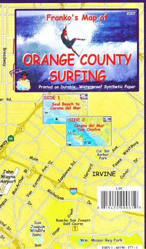 us topo - Franko's Map of Orange County Surfing - Wide World Maps & MORE! - Book - FrankosMaps - Wide World Maps & MORE!
