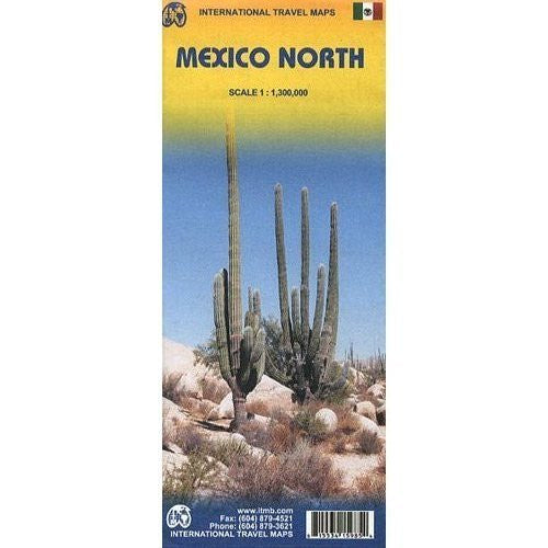 Mexico North 1:1,300,000 Regional Travel Map