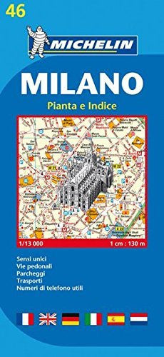 Michelin Map Milano #46 (Maps/City (Michelin)) (Italian Edition)