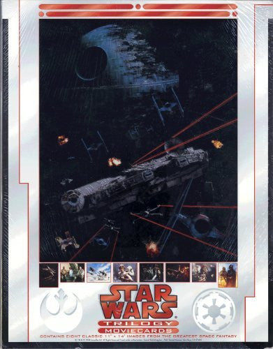 "Star Wars Trilogy Movie Cards -Contains Eight Classic 11"" X 14"" Images"
