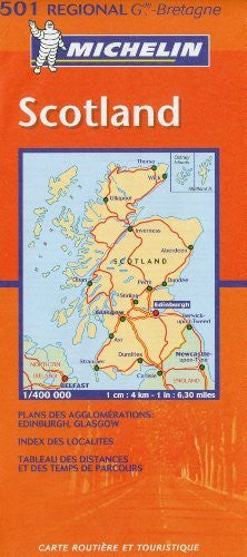 Michelin Scotland Regional Map (Michelin Maps)