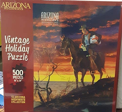 Arizona Highways Vintage Holiday Puzzle - Wide World Maps & MORE! - Toy - Arizona Highways - Wide World Maps & MORE!