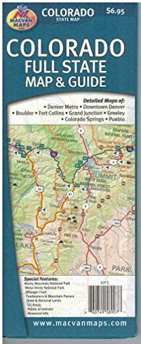 us topo - Colorado Full State Map & Guide - Wide World Maps & MORE! - Book - Wide World Maps & MORE! - Wide World Maps & MORE!