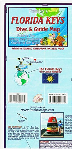 us topo - Franko Maps Florida Keys Scuba Diving Guide and Dive - Wide World Maps & MORE! - Sports - 699 - Wide World Maps & MORE!