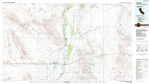 Blythe, California-Arizona 1:100,000-scale Metric Topographic Map (30 x 60 Minute Quadrangle, TCA3431)