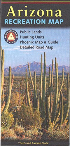 Benchmark Maps Arizona Recreation Map