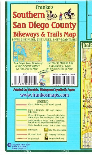 Franko's Northern San Diego County Bikeways & Trails Map