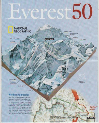 National Geographic Folding Map: Everest 50 (A Half a Century After the First Climb), May 2003