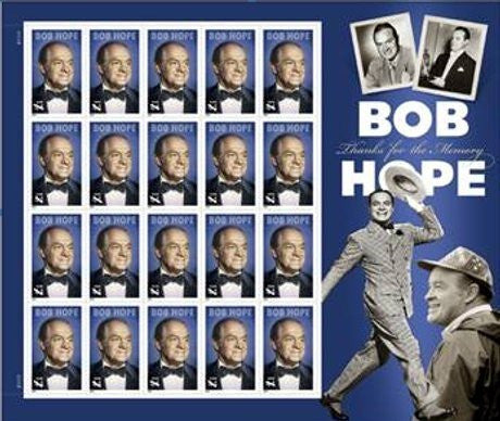 Bob Hope Thanks for the Memory Mint Sheet of Twenty 44 Cent Stamps Scott 4406