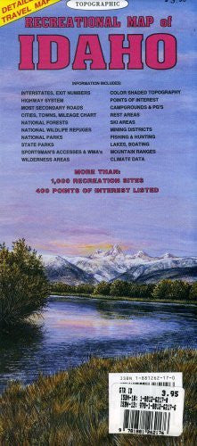 us topo - Topographic Recreational Map of Idaho - Wide World Maps & MORE! - Book - GTR Mapping - Wide World Maps & MORE!