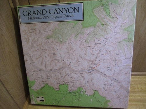 us topo - Grand Canyon National Park 500 Piece Puzzle - USDI Map - Wide World Maps & MORE! - Toy - Coburn Designs - Wide World Maps & MORE!