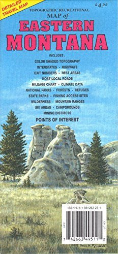 us topo - Eastern Montana Topographic Recreational Map - Wide World Maps & MORE! - Book - Wide World Maps & MORE! - Wide World Maps & MORE!