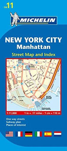 us topo - Michelin New York City:  Manhattan Map 11 (Maps/City (Michelin)) - Wide World Maps & MORE! - Book - Michelin Travel & Lifestyle (COR) - Wide World Maps & MORE!