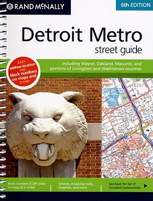 Rand McNally Detroit Metro Street Guide   [RM DETROIT METRO STREET GD-08] [Spiral]
