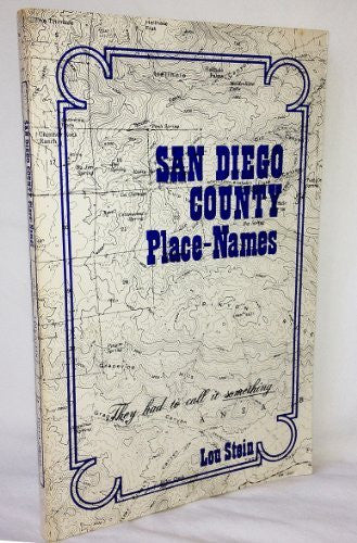 San Diego County Place Names