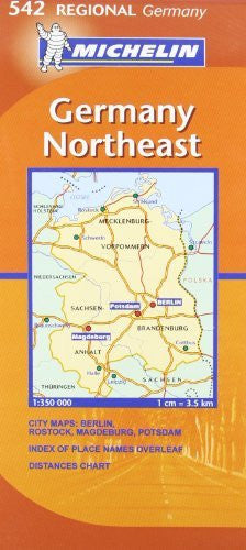 us topo - Michelin Map Germany Northeast 542 (Maps/Regional (Michelin)) - Wide World Maps & MORE! - Book - Michelin - Wide World Maps & MORE!