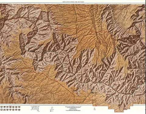 "GRAND CANYON RELIEF MAP (38"" X 60"")"