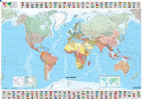 The World Wall Map (Dry Erase Laminated, Rolled) (Michelin Map 14701) - Wide World Maps & MORE! - Map - Michelin - Wide World Maps & MORE!