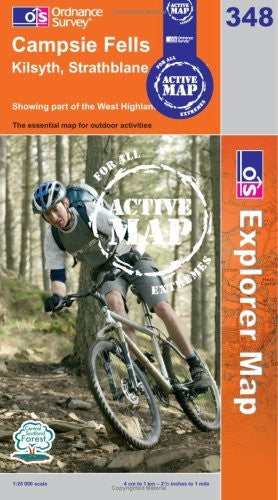 us topo - Campsie Fells (OS Explorer Map Active) - Wide World Maps & MORE! - Book - Wide World Maps & MORE! - Wide World Maps & MORE!