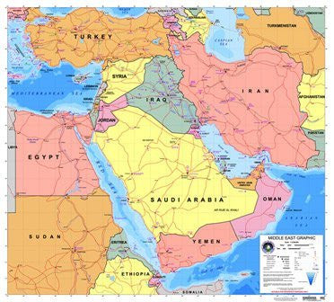 us topo - Middle East Graphic - Wide World Maps & MORE! - Book - Wide World Maps & MORE! - Wide World Maps & MORE!