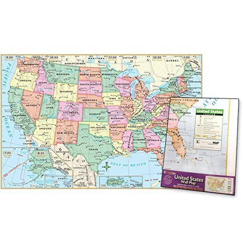 us topo - US Poster-Sized Paper Map - Folded - Wide World Maps & MORE! - Book - Wide World Maps & MORE! - Wide World Maps & MORE!