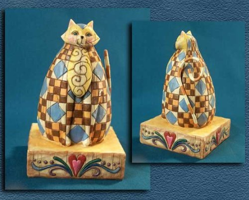 Jim Shore - Heartwood Creek - Abigail Brown Hearth Cat by Enesco - 114419 - Wide World Maps & MORE! - Home - IWDSC - Wide World Maps & MORE!