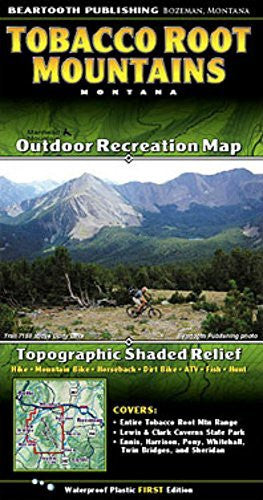 Tobacco Root Mountains - Wide World Maps & MORE! - Book - Beartooth Publishing - Wide World Maps & MORE!