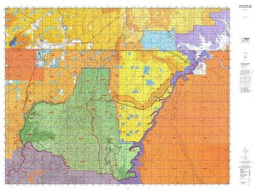 Arizona 12B Hunt Area / Game Management Unit (GMU) Map - Wide World Maps & MORE! - Map - MyTopo - Wide World Maps & MORE!
