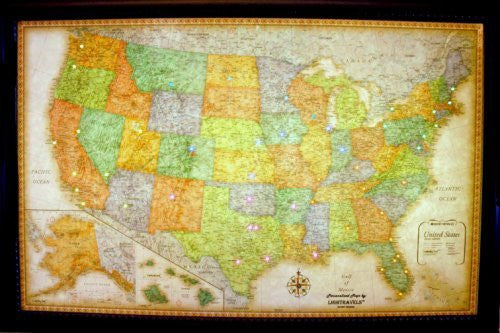 Lightravels Classic United States Illuminated Map