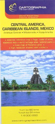 Central America (Cartographia Country Maps) - Wide World Maps & MORE! - Book - Cartographia - Wide World Maps & MORE!
