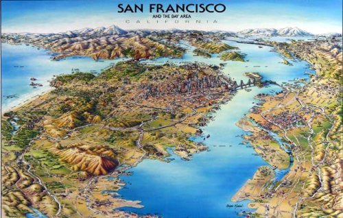 San Francisco Laminated Map