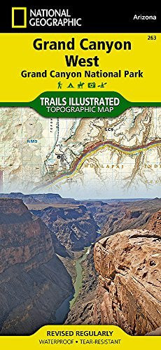 National Geographic Trails Illustrated - Grand Canyon West Map - AZ