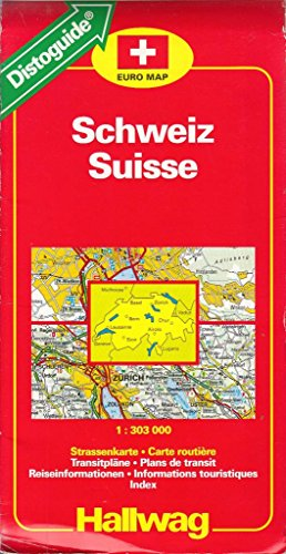 Hallwag Road Map/Distoguide: Switzerland: 1994