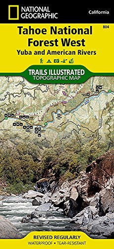 Tahoe National Forest West [Yuba and American Rivers] (National Geographic Trails Illustrated Map)