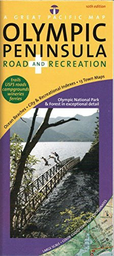 Olympic Peninsula/ Washington Coast Road & Recreation Map, 10th Edition