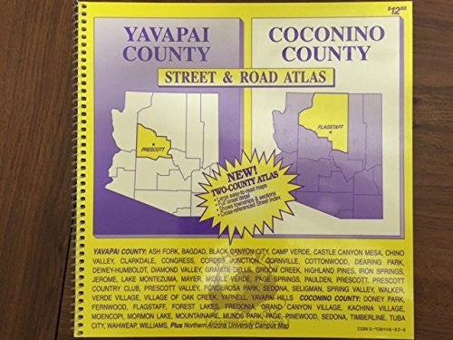 Yavapai County, Coconino County street & road atlas