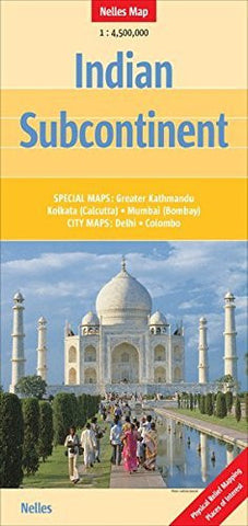 us topo - Indian Subcontinent Nelles map - Wide World Maps & MORE! - Book - Wide World Maps & MORE! - Wide World Maps & MORE!