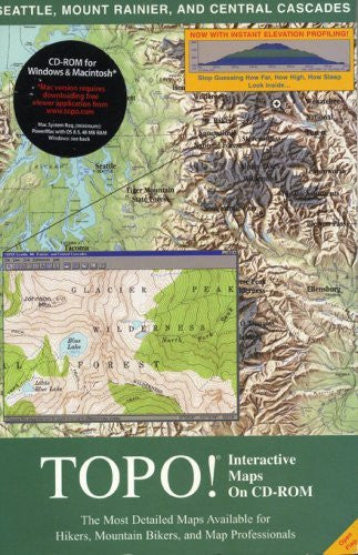 topo! interactive maps on cd-rom: seattle, mount rainier, and central cascades