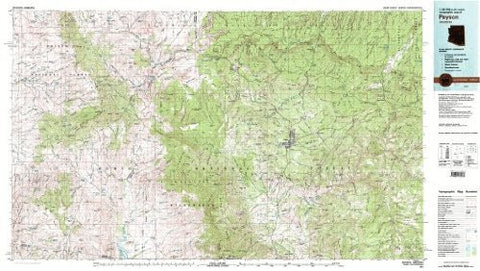 Payson Arizona 1:100,000-scale USGS Topographic Map: 30 X 60 Minute Series (1981)