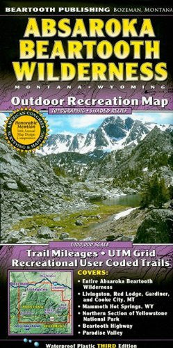 us topo - Absaroka Beartooth Wilderness: Montana, Wyoming: Outdoor Recreation Map - Wide World Maps & MORE! - Book - Beartooth Publishing - Wide World Maps & MORE!