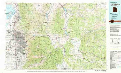 us topo - 1:100 000-scale metric topographic map of Salt Lake City, Utah--Wyoming, 1980 : 30 x 60 minute series (topographic) (SuDoc I 53.11/4:40111-E 1-TM-100/981) - Wide World Maps & MORE! - Book - Wide World Maps & MORE! - Wide World Maps & MORE!