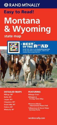 us topo - Rand McNally Easy To Read: Montana, Wyoming State Map - Wide World Maps & MORE! - Book - Wide World Maps & MORE! - Wide World Maps & MORE!