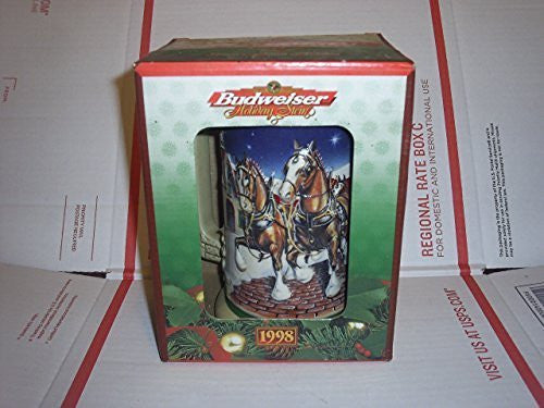 1998 BUDWEISER GRANT'S FARM HOLIDAY CLYDESDALE STEIN #CS-343 by CERAMARTE