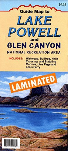 us topo - Guide Map to Lake Powell and Glen Canyon National Recreation Area Includes: Wahweap, Bullfrog, Halls Crossing, and Stateline Marinas, plus Page and Lee's Ferry Gloss Laminated - Wide World Maps & MORE! - Map - North Star Mapping - Wide World Maps & MORE!